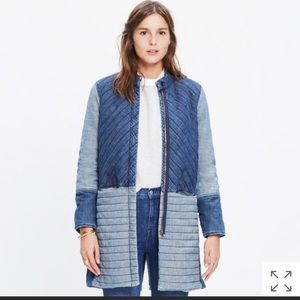 Madewell quilted denim coat